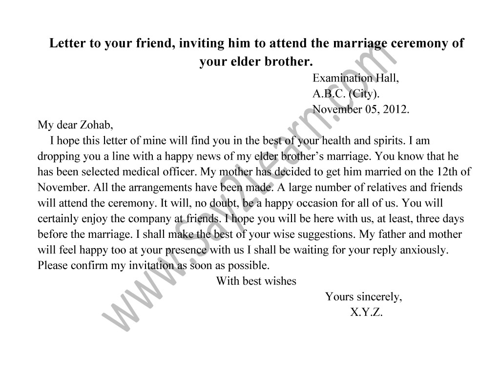 Brother s marriage invitation letter to friends invitationswedd brother s marriage invitation letter to friends broprahshow stopboris Gallery