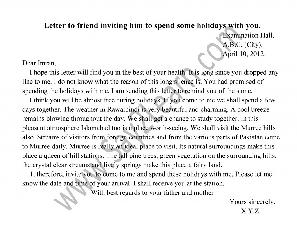 Letter to a friend inviting for holidays invitationjpg letter to friend inviting for brother s marriage stopboris Image collections