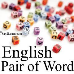 eng pair of word