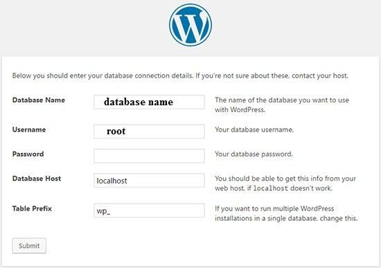 wordpress-database-config