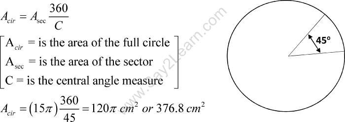 area-of-circle-using-sector-of-the-circle